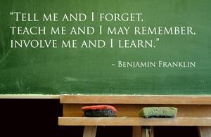 Involve me and I learn!